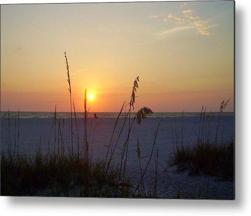 Ocean Metal Print featuring the photograph A Florida Sunset by Cynthia Guinn