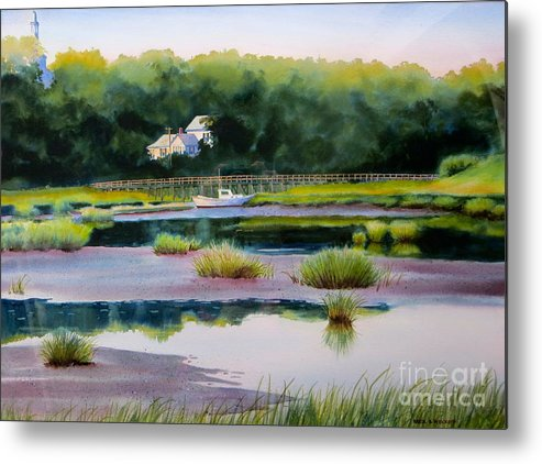 House Metal Print featuring the painting Across Duck Creek by Karol Wyckoff