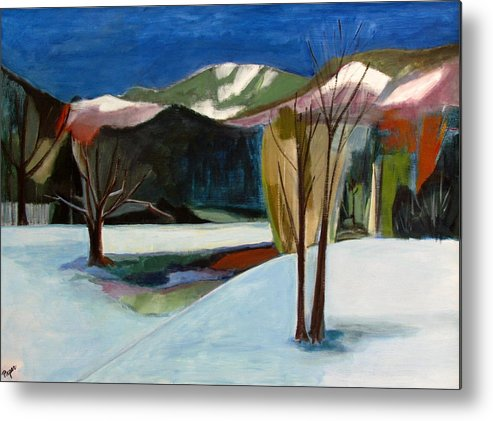 Adirondack Mountains Metal Print featuring the painting Adirondacks by Betty Pieper
