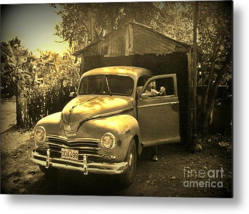 Antique Cars Metal Print featuring the photograph An Old Hidden Gem by John Malone