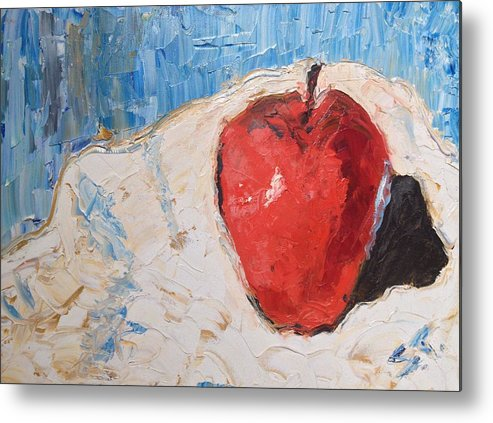 Stillife Metal Print featuring the painting Apple by Stan Tenney