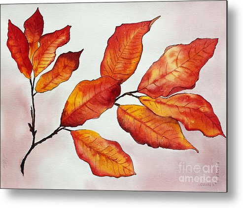 Branches Metal Print featuring the painting Autumn by Shannan Peters