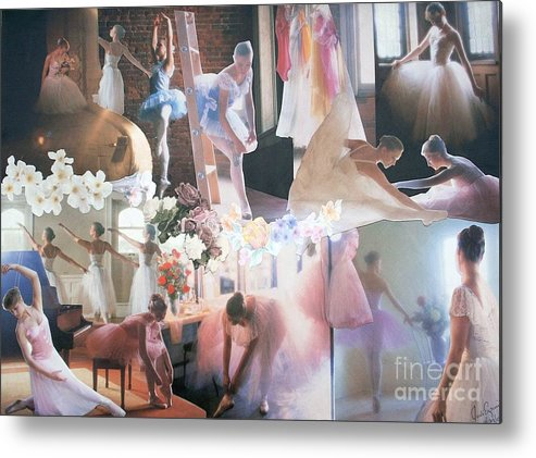 Pictures Of Ballarinas At Work Or In Performance; Ballet; Stage Metal Print featuring the mixed media Ballarina Beauty - Sold by Judith Espinoza