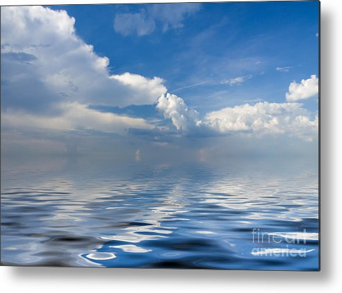 Beauty Metal Print featuring the photograph beauty Clouds over Sea by Boon Mee