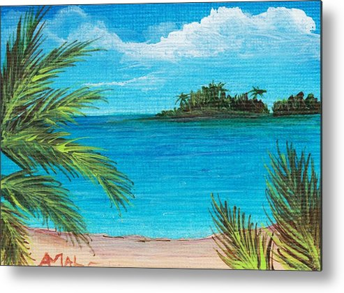Interior Metal Print featuring the painting Boca Chica Beach by Anastasiya Malakhova