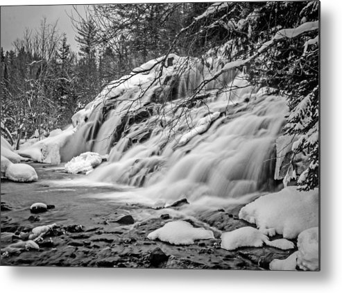 Michigan Metal Print featuring the photograph Bond Falls 3 by Stevan Tontich