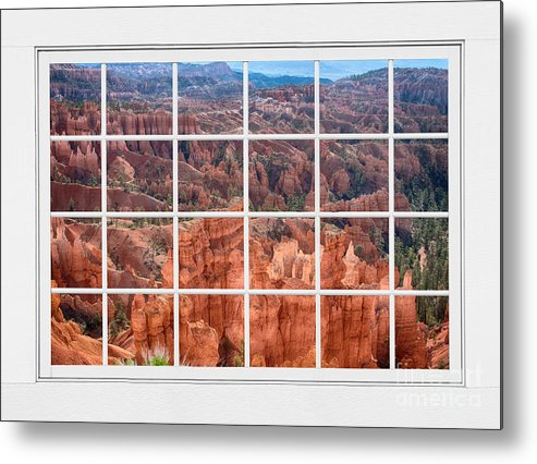 Bryce Canyon Metal Print featuring the photograph Bryce Canyon White Picture Window View by James BO Insogna