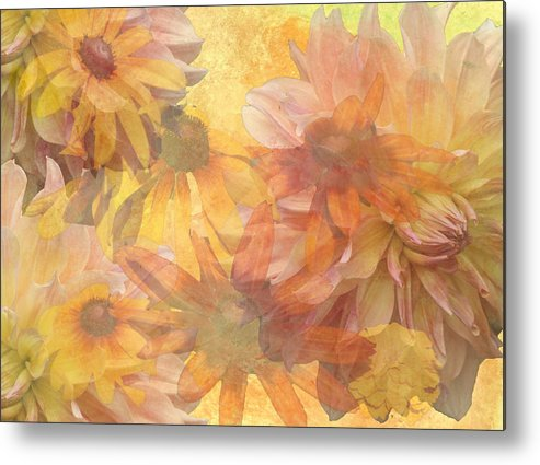 Daisies Metal Print featuring the digital art Burst Of Spring by Donna Walsh