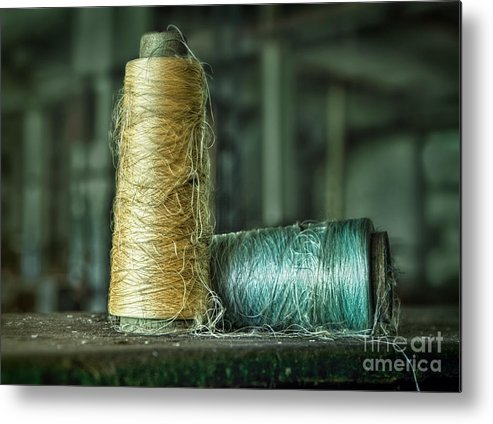 Silk Metal Print featuring the photograph Cheap Threads by Claudia Kuhn