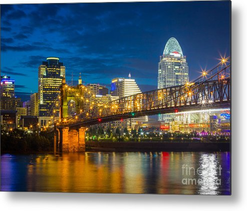 America Metal Print featuring the photograph Cincinnati Downtown by Inge Johnsson