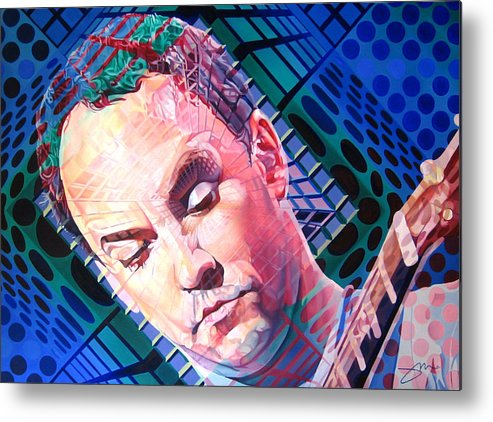 Dave Matthews Metal Print featuring the painting Dave Matthews Open Up My Head by Joshua Morton