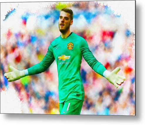 English Metal Print featuring the digital art David De Gea Of Manchester United by Don Kuing
