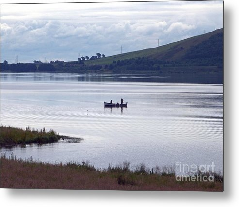 Fishing Metal Print featuring the photograph Fishing On Loch Leven by Phil Banks