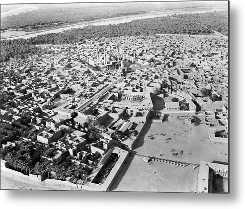 1932 Metal Print featuring the photograph Kadhimain Mosque In Baghdad by Underwood Archives