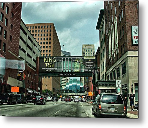 Downtown Metal Print featuring the photograph King Tut In Indy by Julie Dant