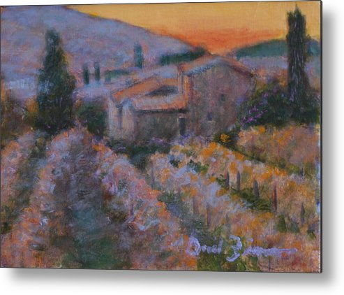 Impressionist Painting Of A Sunrise Metal Print featuring the painting La Levata Del Sole by David Zimmerman