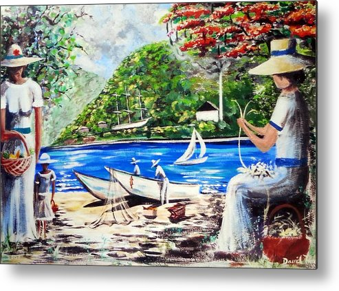Caribbean Metal Print featuring the painting Old Time St Thomas by David Francke