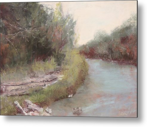 River Metal Print featuring the pastel Paluxy River Afternoon by Estelle Stepherson