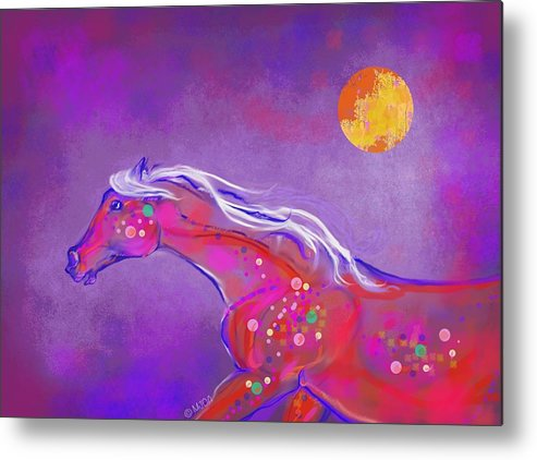 Horse Metal Print featuring the digital art Pony Of Color by Mary Armstrong