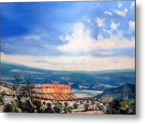 Watercolor Metal Print featuring the painting Southern Utah Panorama by Matthew Chatterley