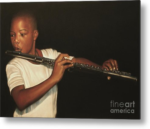 The Fifer I Metal Print featuring the pastel The Fifer I by Curtis James