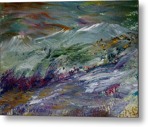 Mountain Metal Print featuring the painting The Long Walk Home by Edward Wolverton