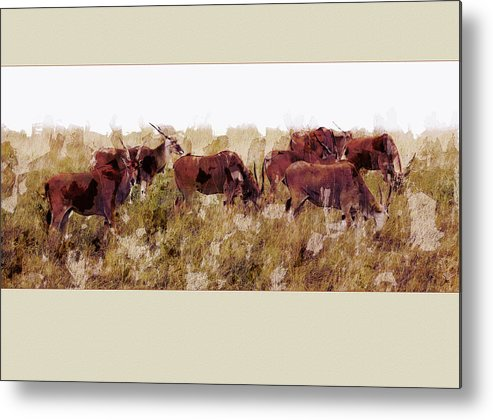 Ron Jones Metal Print featuring the digital art The Wilds by Ron Jones