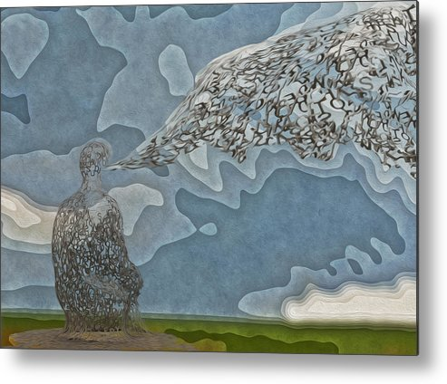 Abstract Metal Print featuring the painting Trying To Find The Right Words by Jack Zulli