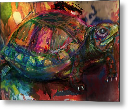 Chelonii Metal Print featuring the digital art Turtle Time by James Thomas
