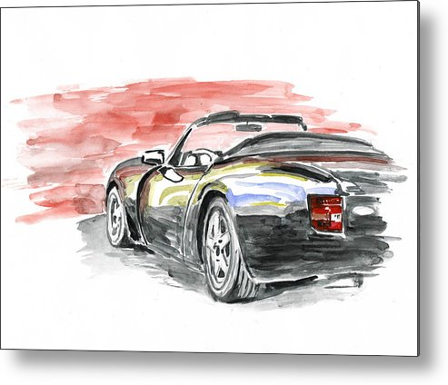 Auto Metal Print featuring the painting Tvr Griffith by Ildus Galimzyanov