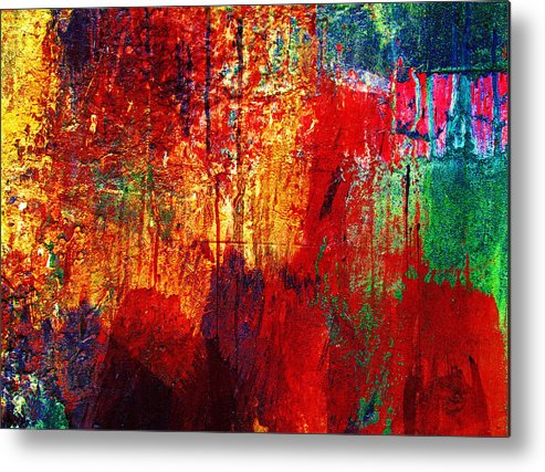 Abstract Metal Print featuring the photograph Untamed Colors by Prakash Ghai