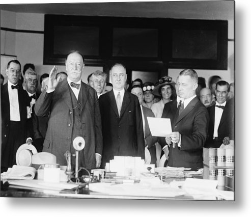Us Presidents Metal Print featuring the photograph Ex-president William Howard Taft by Everett