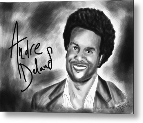 Andre Delano Metal Print featuring the drawing Andre Delano by Kenal Louis