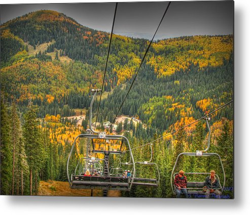 Santa Fe National Forest Metal Print featuring the photograph Autumn Lift by Aaron Burrows