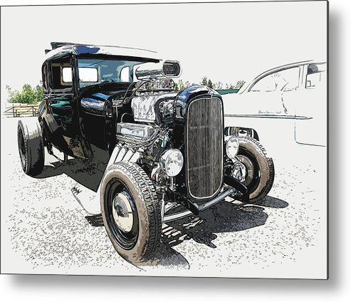 Hot Rod Metal Print featuring the photograph Blown Coupe by Steve McKinzie
