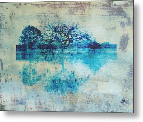 Blue Metal Print featuring the photograph Blue On Blue by Ann Powell