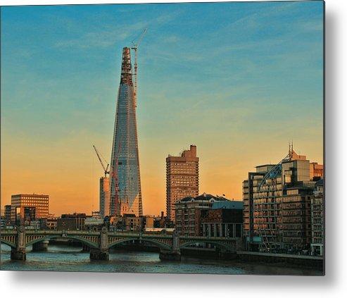 Shard London Bridge Metal Print featuring the photograph Building Shard by Jasna Buncic