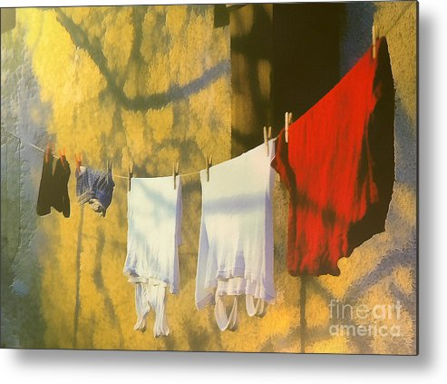 Odon Metal Print featuring the painting Clothing by Odon Czintos