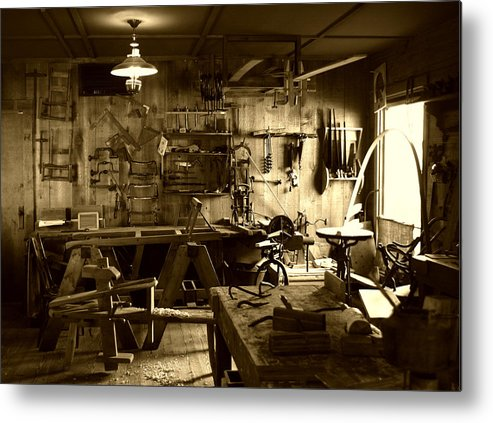 Architecture Metal Print featuring the photograph Craftmanship by Nina Fosdick