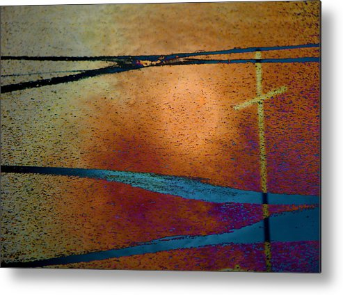 Abstract Metal Print featuring the photograph Crossroads by Lenore Senior