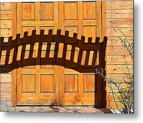 Doors Metal Print featuring the photograph Invisable Keyboard by Diane montana Jansson