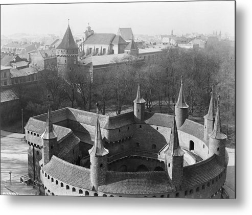 krakow Metal Print featuring the photograph Looking Down On The Rondel Or Barbican by W. Robert Moore