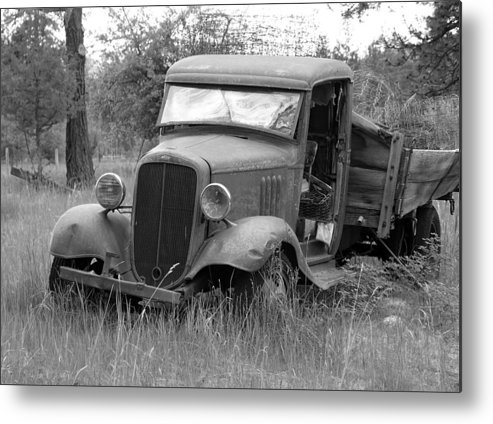 Hot Rod Metal Print featuring the photograph Old Chevy Truck by Steve McKinzie