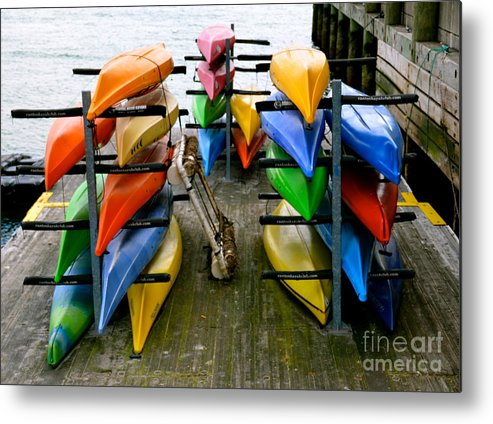 Kayak Metal Print featuring the photograph Salma Kayaks by Debbi Granruth