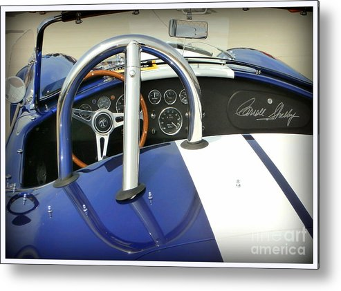 Carroll Shelby Metal Print featuring the photograph Shelby Signed Cobra by Karyn Robinson