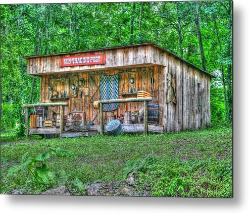 historic Site Metal Print featuring the photograph Silver River Trading Post by Myrna Bradshaw