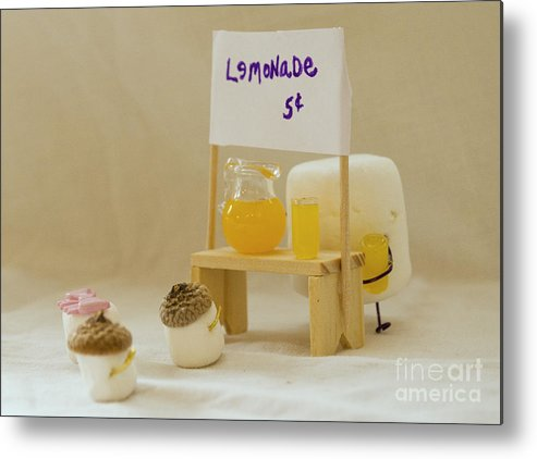 Lemonade Stand Metal Print featuring the photograph Summer Sweetness by Heather Applegate
