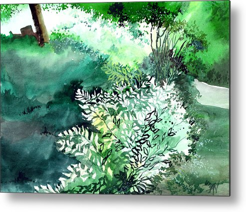 Christmas Metal Print featuring the painting Touch Of Light 1 by Anil Nene