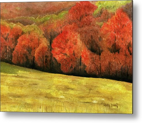 Autumn Metal Print featuring the painting Autumn Splendor by Mary Tuomi