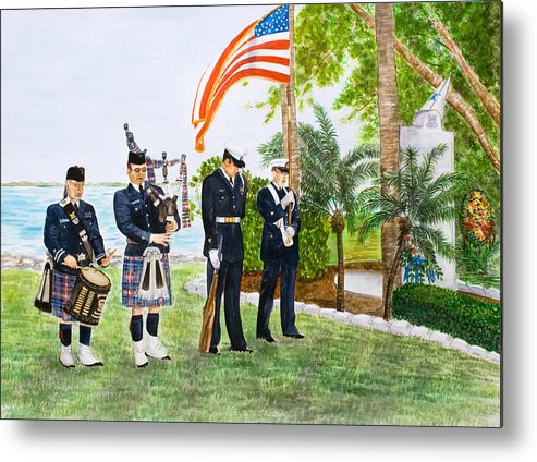 Coast Guard Metal Print featuring the painting Blackthorn Memorial by Dorothy Riley